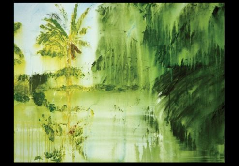 George Oommen - Makotta series III - 2001 Acrylic on canvas 24x36inches