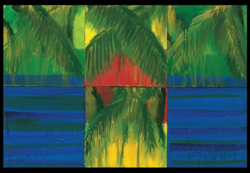 George Oommen - Visions of Kerala I - 2005 Acrylic on canvas 16x24inches