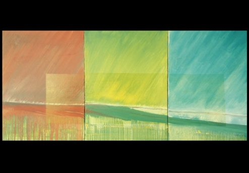 Landscape Framed - 1997 - acrylic on canvas 30x60 inches
